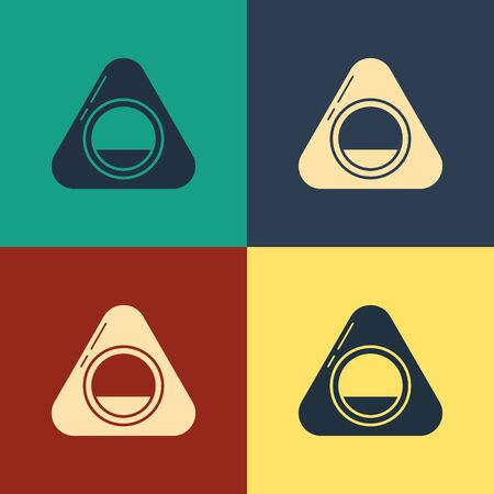 Color Pet bed icon isolated on color background. Vintage style drawing. Vector Illustration Illustration