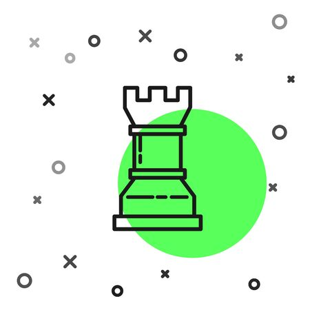 Black line Business strategy icon isolated on white background. Chess symbol. Game, management, finance. Vector Illustration