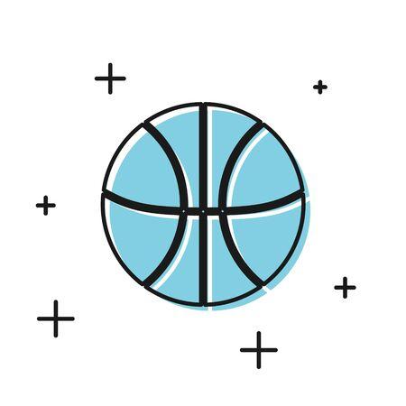 Black Basketball ball icon isolated on white background. Sport symbol.  Vector Illustration Illustration