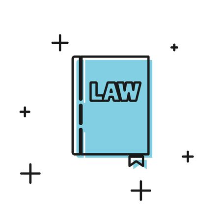 Black Law book icon isolated on white background. Legal judge book. Judgment concept. Vector Illustration Ilustrace