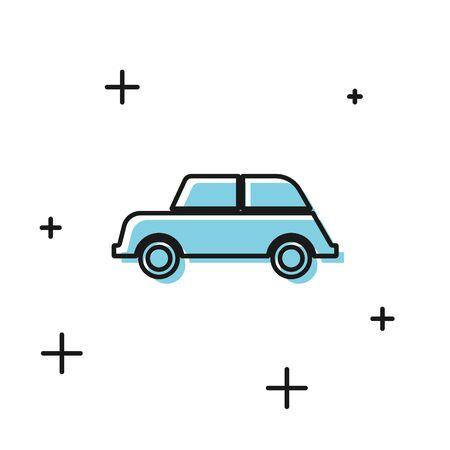 Black Car icon isolated on white background. Vector Illustration Foto de archivo - 134811166