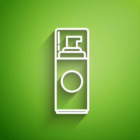 White line Shaving gel foam icon isolated on green background. Shaving cream.  Vector Illustration
