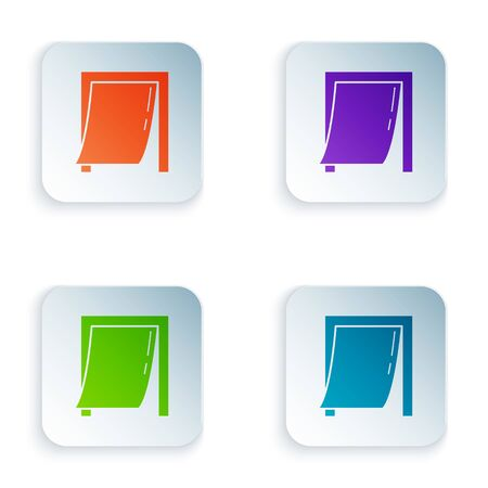 Color Door for pet icon isolated on white background. Set icons in square buttons. Vector Illustration