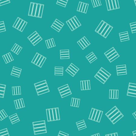Green Prison window icon isolated seamless pattern on green background. Vector Illustration Illustration