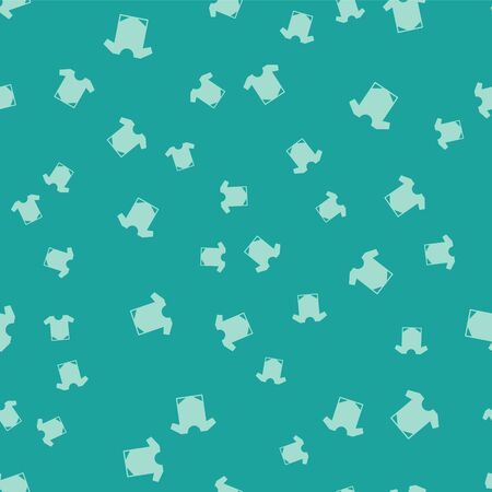 Green Babywear icon isolated seamless pattern on green background. Baby clothes symbol. Kid wear sign. Vector Illustration