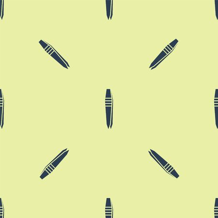 Blue Tweezers icon isolated seamless pattern on yellow background. Vector Illustration Illustration