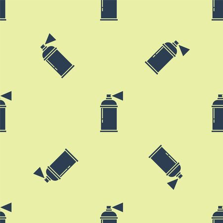 Blue Paint spray can icon isolated seamless pattern on yellow background. Vector Illustration 일러스트