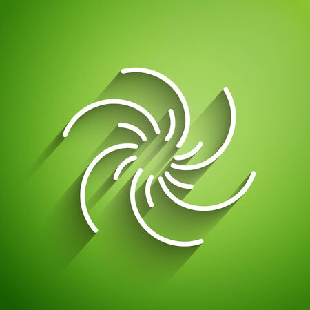 White line Black hole icon isolated on green background. Space hole. Collapsar. Vector Illustration