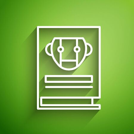 White line User manual icon isolated on green background. User guide book. Instruction sign. Read before use. Vector Illustration Vector Illustratie