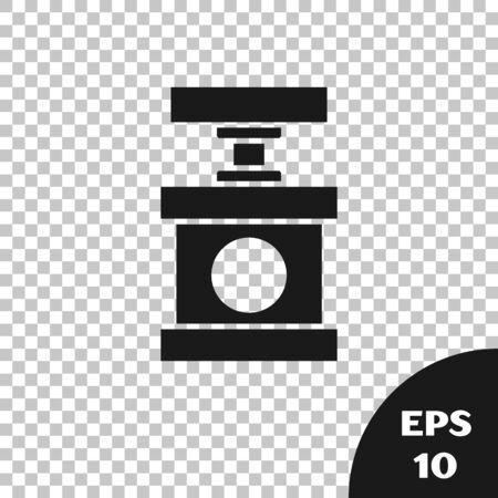Black Handle detonator for dynamite icon isolated on transparent background. Vector Illustration Illustration