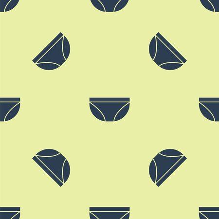 Blue Underwear icon isolated seamless pattern on yellow background. Vector Illustration Illustration
