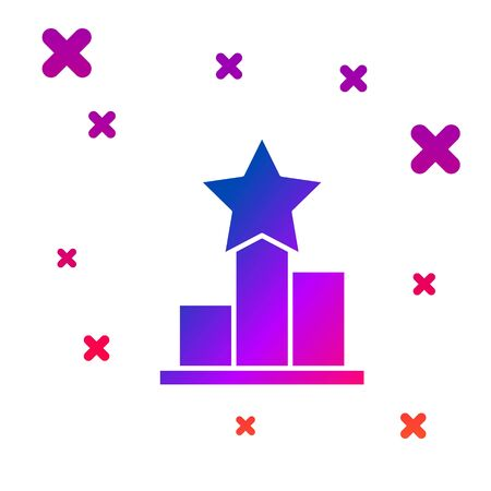 Color Star icon isolated on white background. Favorite, score, best rating, award symbol. Gradient random dynamic shapes. Vector Illustration