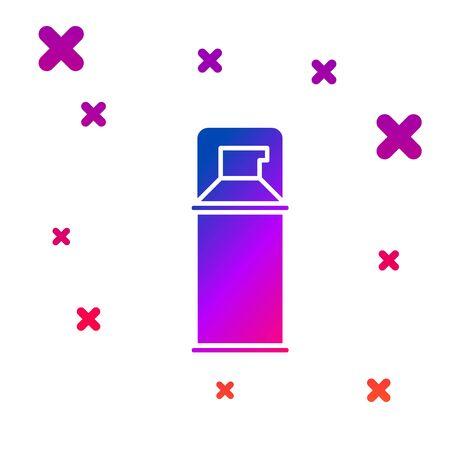 Color Shaving gel foam icon isolated on white background. Shaving cream. Gradient random dynamic shapes. Vector Illustration