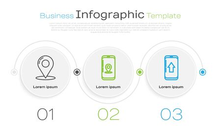 Set line Map pin, Infographic of city map navigation and Infographic of city map navigation. Business infographic template. Vector