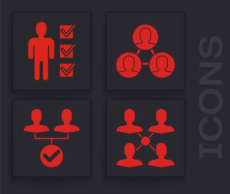 Set Project team base, User of man in business suit, Project team base and Project team base icon. Vector