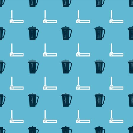 Set Measuring cup and Router and wifi signal on seamless pattern. Vector