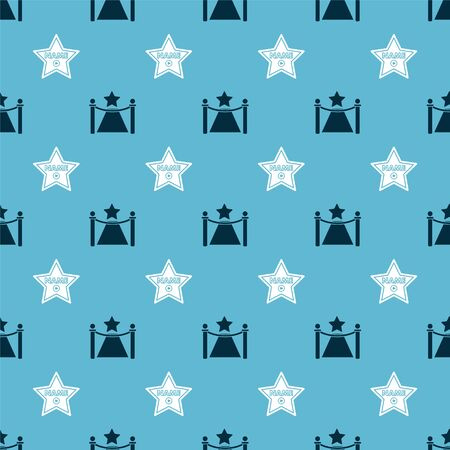 Set Carpet with barriers Set star frame on seamless pattern. Vector
