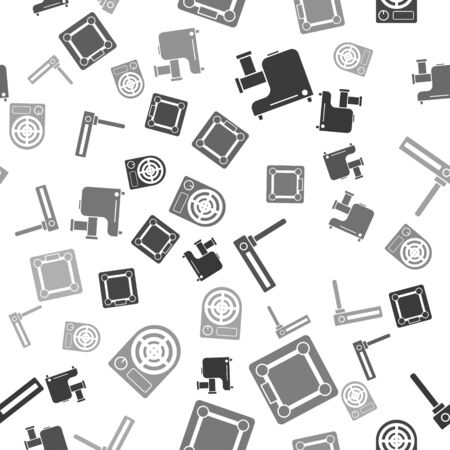 Set Kitchen meat grinder , Bathroom scales , Router and wifi signal  and Electric heater  on seamless pattern. Vector