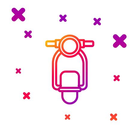 Color line Scooter icon isolated on white background. Gradient random dynamic shapes. Vector Illustration Illustration