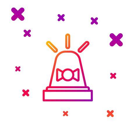 Color line Flasher siren icon isolated on white background. Emergency flashing siren. Gradient random dynamic shapes. Vector Illustration Illustration
