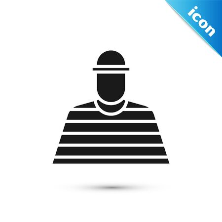Grey Prisoner icon isolated on white background. Vector Illustration