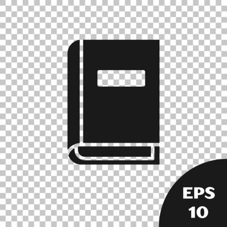 Black User manual icon isolated on transparent background. User guide book. Instruction sign. Read before use. Vector Illustration  イラスト・ベクター素材