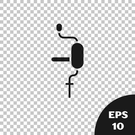 Black Hand drill icon isolated on transparent background. Vector Illustration Banque d'images - 142151223