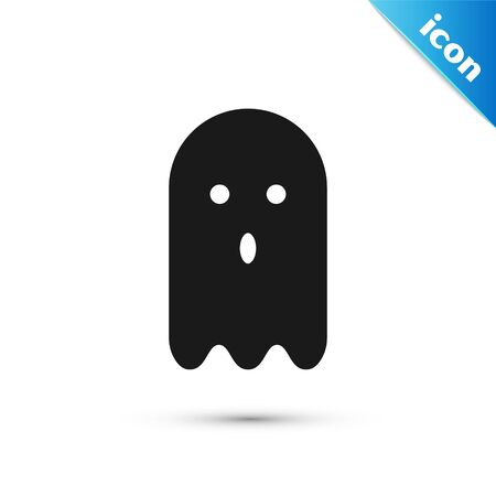 Grey Ghost icon isolated on white background. Vector Illustration 일러스트