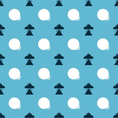 Set UFO flying spaceship and Planet on seamless pattern. Vector 矢量图像