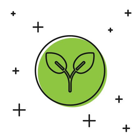 Black Bio fuel icon isolated on white background. Eco bio. Green environment and recycle.  Vector Illustration