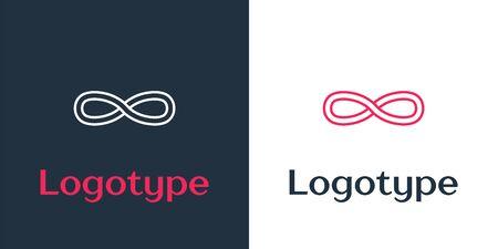 Logotype line Function mathematical symbol icon isolated on white background. Logo design template element. Vector Illustration