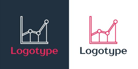 Logotype line Sigma symbol icon isolated on white background. Logo design template element. Vector Illustration