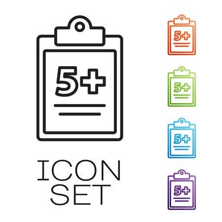 Black line Mathematics function sine icon isolated on white background. Set icons colorful. Vector Illustration Illusztráció