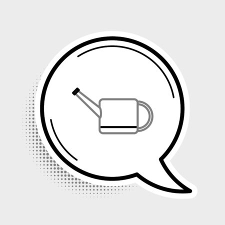 Line Watering can icon isolated on grey background. Irrigation symbol. Colorful outline concept. Vector.
