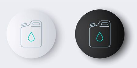 Line Canister for gasoline icon isolated on grey background. Diesel gas icon. Colorful outline concept. Vector Ilustracja