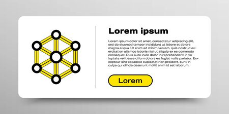 Line Blockchain technology icon isolated on white background. Cryptocurrency data. Abstract geometric block chain network technology business. Colorful outline concept. Vector  イラスト・ベクター素材