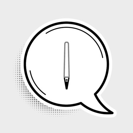 Line Pen icon isolated on grey background. Colorful outline concept. Vector