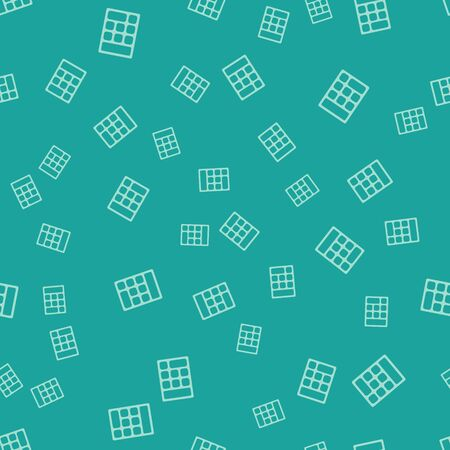 Green Calculator icon isolated seamless pattern on green background. Accounting symbol. Business calculations mathematics education and finance. Vector Illustration Ilustracja