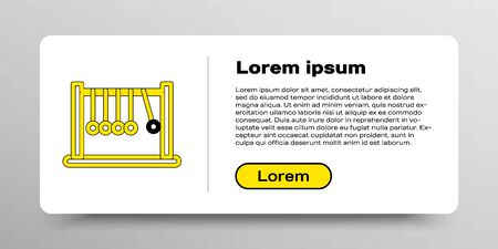 Line Pendulum icon isolated on white background. Newtons cradle. Colorful outline concept. Vector Stockfoto - 149148978