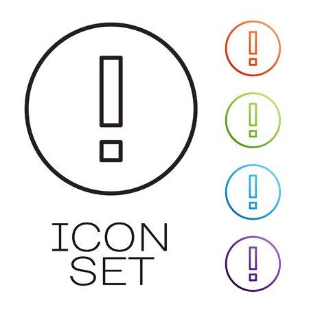 Black line Information icon isolated on white background. Set icons colorful. Vector Illustration. Illusztráció