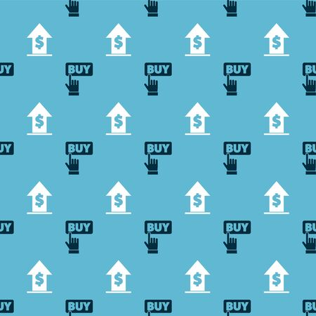 Set Buy button and Financial growth and coin on seamless pattern. Vector. Illustration