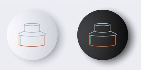 Line Beekeeper with protect hat icon isolated on grey background. Special protective uniform. Colorful outline concept. Vector.