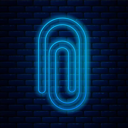 Glowing neon line Book with word mathematics icon isolated on brick wall background. Math book. Education concept about back to school. Vector Illustration.