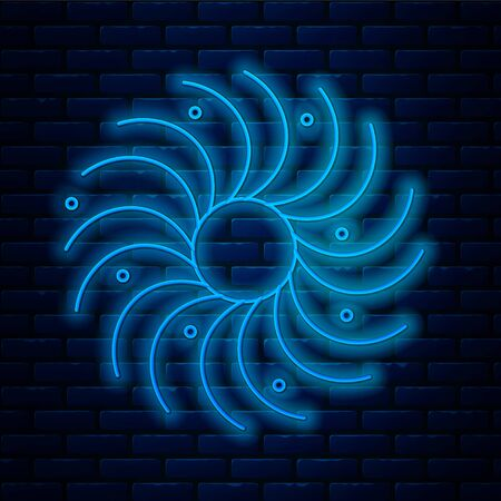 Glowing neon line Black hole icon isolated on brick wall background. Space hole. Collapsar. Vector Illustration. 일러스트