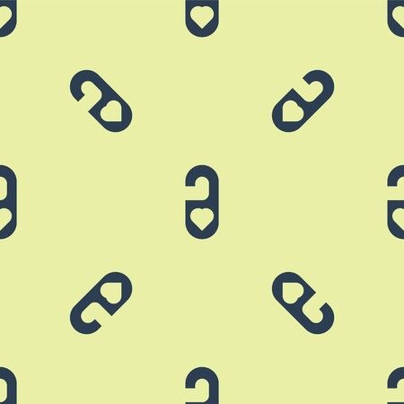 Blue Please do not disturb with heart icon isolated seamless pattern on yellow background. 8 March. International Happy Women Day. Vector Illustration.