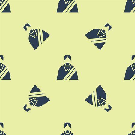 Blue Jesus Christ icon isolated seamless pattern on yellow background. Vector Illustration. 일러스트