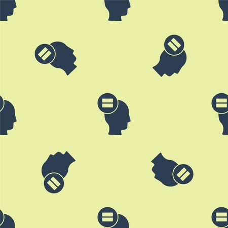 Blue Calculation icon isolated seamless pattern on yellow background. Vector Illustration.