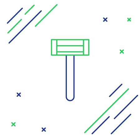 Line Shaving razor icon isolated on white background. Colorful outline concept. Vector.