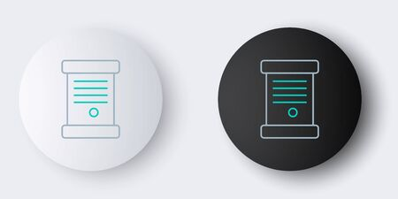 Line Decree, paper, parchment, scroll icon icon isolated on grey background. Colorful outline concept. Vector. 일러스트