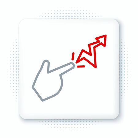 Line Spell icon isolated on white background. The sorcerer hand performing spells. Colorful outline concept. Vector.